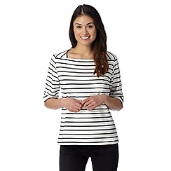 J by Jasper Conran - Designer white ponte stripe top