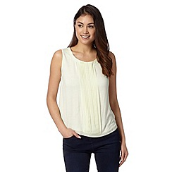 J by Jasper Conran - Designer lime pleated sleeveless top
