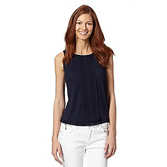 J by Jasper Conran - Designer navy pleated sleeveless top