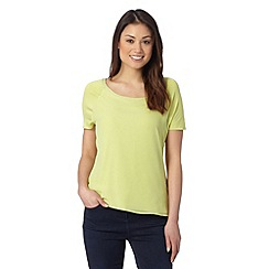 J by Jasper Conran - Designer lime woven front t-shirt
