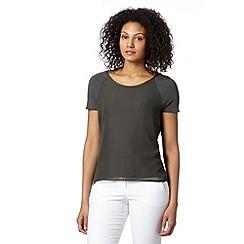 J by Jasper Conran - Designer khaki woven front t-shirt