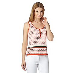 J by Jasper Conran - Designer dark orange geometric print vest