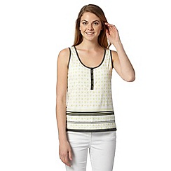J by Jasper Conran - Designer lime geometric print vest