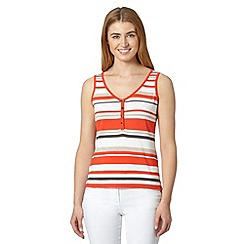 J by Jasper Conran - Designer dark orange striped vest