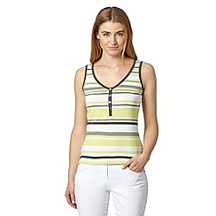 J by Jasper Conran - Designer lime striped vest