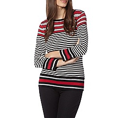 J by Jasper Conran - Designer grey contrast striped jumper