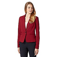 J by Jasper Conran - Designer dark red ponte jacket