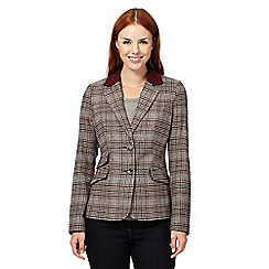 J by Jasper Conran - Designer brown checked hacking jacket