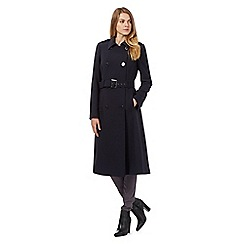 J by Jasper Conran - Navy blue belted military coat