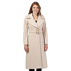J by Jasper Conran - Beige wool blend long coat