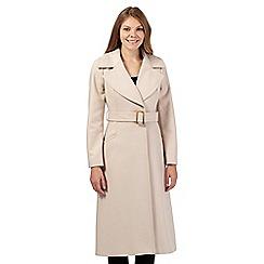 J by Jasper Conran - Beige wool blend long coat