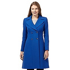 J by Jasper Conran - Bright blue crepe coat