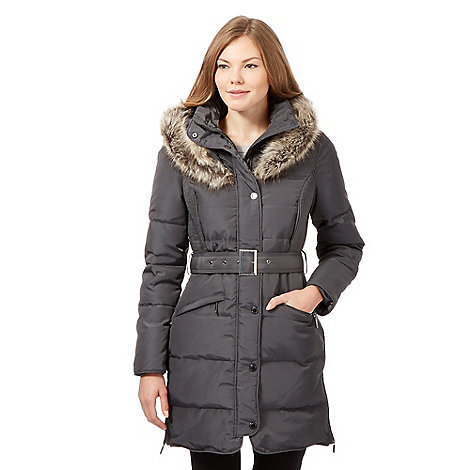 J by Jasper Conran - Khaki padded down filled coat