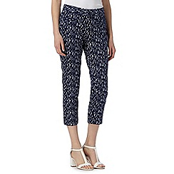 J by Jasper Conran - Designer navy linear cropped slim leg trousers