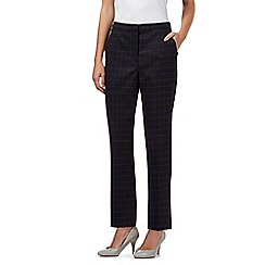 J by Jasper Conran - Dark grey checked trousers