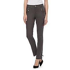 J by Jasper Conran - Khaki cargo zip trousers