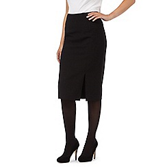 J by Jasper Conran - Black panelled long pencil skirt