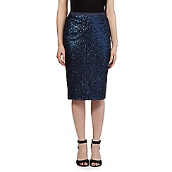 J by Jasper Conran - Navy sequin skirt