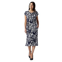 J by Jasper Conran - Designer navy geometric print dress