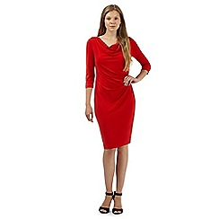 J by Jasper Conran - Designer bright red gathered jersey dress