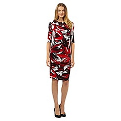 J by Jasper Conran - Designer red floral cowl neck dress
