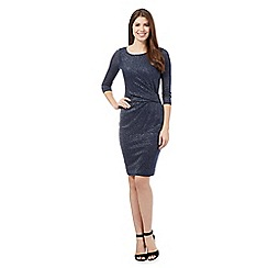 J by Jasper Conran - Navy sparkle jersey dress