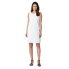 J by Jasper Conran - Designer white broderie shift dress