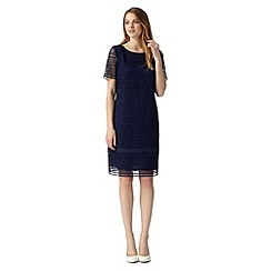 J by Jasper Conran - Designer navy broderie overlay dress