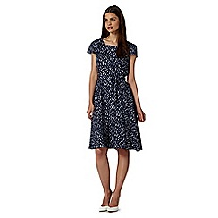 J by Jasper Conran - Designer navy print panelled dress