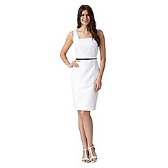J by Jasper Conran - Designer white linen blend dress