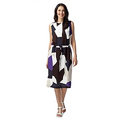 J by Jasper Conran - Designer purple geometric print dress