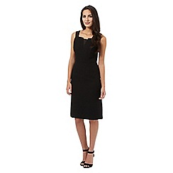 J by Jasper Conran - Black tailored mesh dress