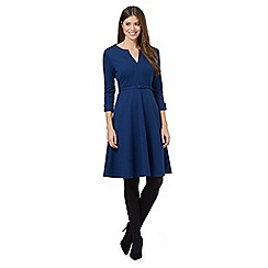 J by Jasper Conran - Navy ponte fit and flare dress
