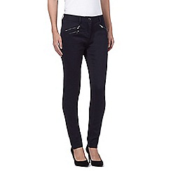 J by Jasper Conran - Dark Blue zip detail super soft skinny jeans
