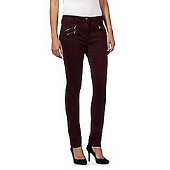 J by Jasper Conran - Purple zip detail super soft skinny jeans