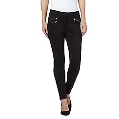 J by Jasper Conran - Black zip detail super soft skinny jeans