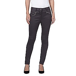 J by Jasper Conran - Dark Grey zip detail super soft skinny jeans