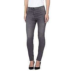 J by Jasper Conran - Grey mid wash skinny jeans