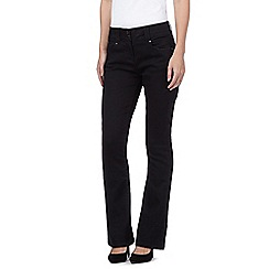 J by Jasper Conran - Black shape enhancing high-waisted bootcut jeans