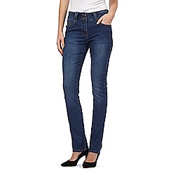 J by Jasper Conran - Light blue shape enhancing high-waisted straight leg jeans