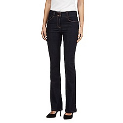 J by Jasper Conran petite - Dark blue petite shape enhancing high-waisted bootcut jeans