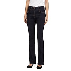 J by Jasper Conran - Dark blue shape enhancing high-waisted bootcut jeans
