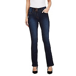 J by Jasper Conran - Rinse wash shape enhancing high-waisted bootcut jeans