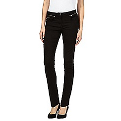 J by Jasper Conran - Black zip skinny jeans