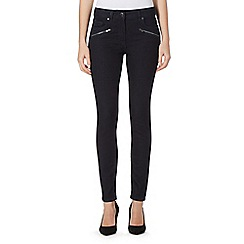J by Jasper Conran - Black zip pocket skinny jeans