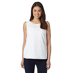 J by Jasper Conran - Designer white broderie shell top