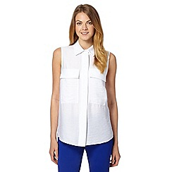 J by Jasper Conran - Designer white textured top