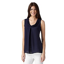J by Jasper Conran - Designer navy roll neck top