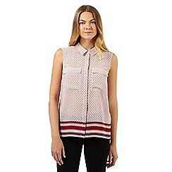 J by Jasper Conran - Designer white geometric square print top