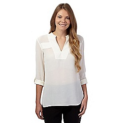 J by Jasper Conran - White deep V neck shirt